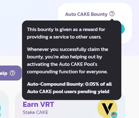 Auto CAKE Bounty